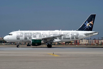 Frontier Airlines (2nd) Airbus A319-111 N913FR (msn 1863) (Hummingbird) LAX (Roy Lock). Image: 936832.