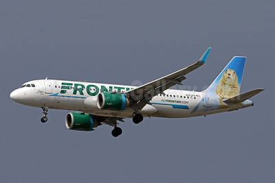 Frontier Airlines (2nd) Airbus A320-251N WL N303FR (msn 7249) (Poppy, the Prairie Dog) IAD (Brian McDonough). Image: 941695.