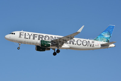 FlyFrontier.com (Frontier Airlines 2nd) Airbus A320-214 WL N220FR (msn 5661) (Finn, the Tiger Shark) LAS (Jay Selman). Image: 402326.