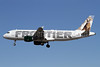Frontier Airlines (2nd) Airbus A320-214 N208FR (msn 4562) (Cougar) LAX (James Helbock). Image: 906074.