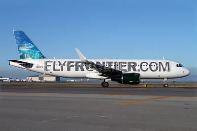 FlyFrontier.com (Frontier Airlines 2nd) Airbus A320-214 WL N220FR (msn 5661) (Sharklets) (Tiger Shark) SFO (Mark Durbin). Image: 921282.