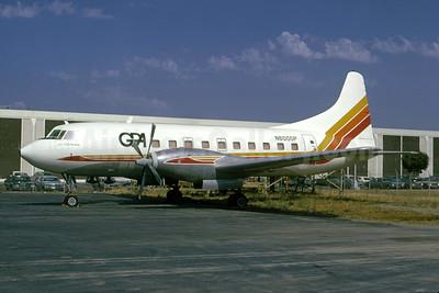 GPA - Golden Pacific Airlines (1st) Convair 600 N600GP (msn 164) SFO (Bruce Drum). Image: 105163.