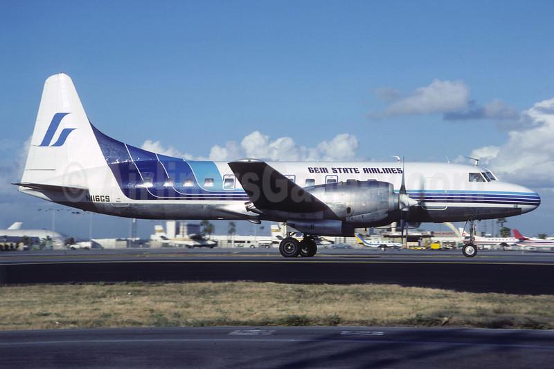 Gem State Airlines Convair 580 N116GS (msn 2) LAX (Jacques Guillem). Image: 913600.