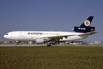 Gemini Air Cargo McDonnell Douglas DC-10-30 (F) N602GC (msn 47923) MIA (Bruce Drum). Image: 105050.