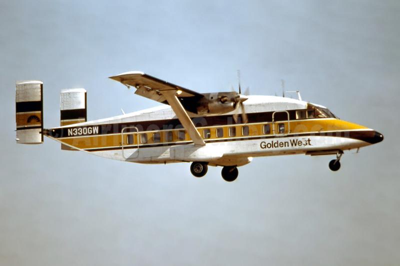 Golden West Airlines Shorts SD3-30 N330GW (msn SH.3010) LAX (Ron Monroe). Image: 944164.