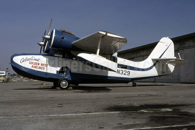 Catalina Golden West Airlines (Golden West Airlines) Grumman G-21A Goose N329 (msn B-140) (Catalina Air Lines colors) LGB (Ted J. Gibson - Bruce Drum Collection). Image: 944167.