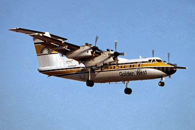 Golden West Airlines de Havilland Canada DHC-7-102 Dash 7 N701GW (msn 21) LAX (Ron Monroe). Image: 944162.
