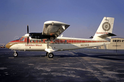 Golden West Airlines de Havilland Canada DHC-6-100 Twin Otter N6383 (msn 83) LAX (Ted J. Gibson - Bruce Drum Collection). Image: 944170.