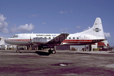 Gray Line Air Convair 580 N5812 (msn 352) (TWA stripes) MIA (Bruce Drum). Image: 105165.