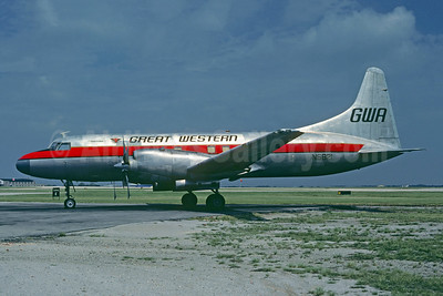 Great Western Airlines - GWA Convair 580 N5821 (msn 65) TUL (Christian Volpati Collection). Image: 941659.