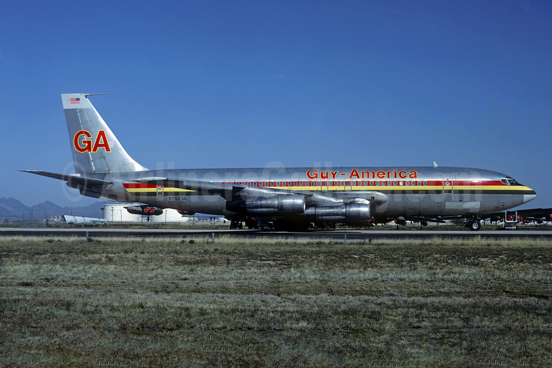 Guy-America Airways Boeing 707-123B N7583A (msn 19333) (Christian Volpati Collection). Image: 934360.