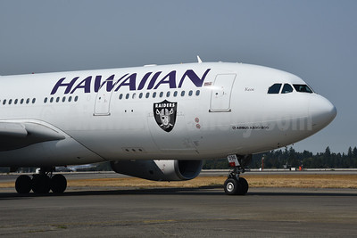 """""""Keoe"""", now with Raiders logo for 2018 NFL season (official airline)"""