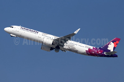 Hawaiian Airlines Airbus A321-271N WL N213HA (msn 8237) LAX (Michael B. Ing). Image: 948259.