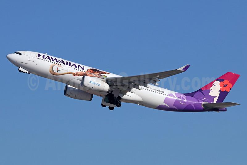Hawaiian's second Disney Moana logo jet