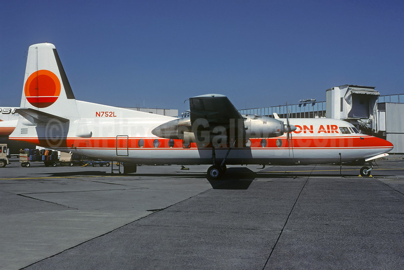 Horizon Air Fairchild F-27A N752L (msn 78) SEA (Christian Volpati Collection). Image: 934397.