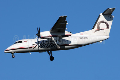 Horizon Air Bombardier DHC-8-202 (Q200) N350PH (msn 488) SEA (Bruce Drum). Image: 101020.