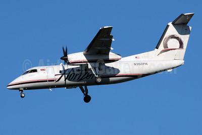 Horizon Air Bombardier DHC-8-202 (Q200) N350PH (msn 488) SEA (Bruce Drum). Image: 101020.