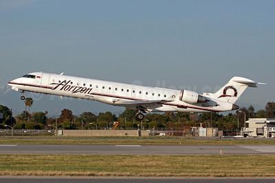 Horizon Air Bombardier CRJ700 (CL-600-2C10) N603QX (msn 10011) LGB (Michael B. Ing). Image: 913026.