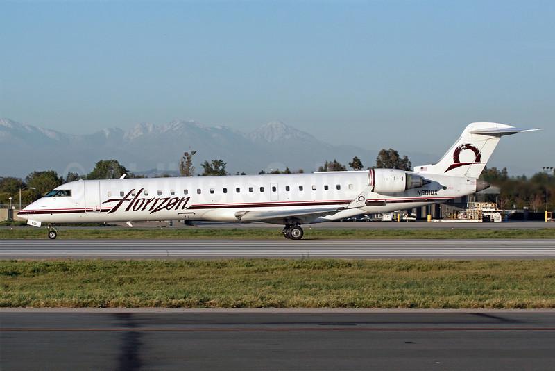 Horizon Air Bombardier CRJ700 (CL-600-2C10) N601QX (msn 10009) LGB (Michael B. Ing). Image: 905085.