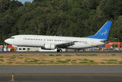 iAero Airways Boeing 737-4Q8 N807TJ (msn 25098) BFI (Nick Dean). Image: 954676.