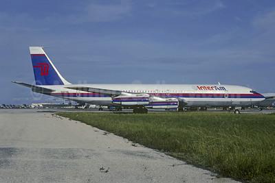 InterAm Boeing 707-351C N29796 (msn 19209) (Walston Wings colors) MIA (Bruce Drum). Image: 102436.