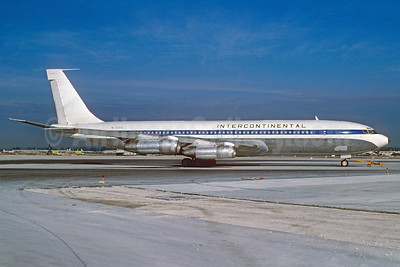 Intercontinental Airways Boeing 707-321C N791PA (msn 18715) (Pan Am colors) MIA (Bruce Drum). Image: 102719.