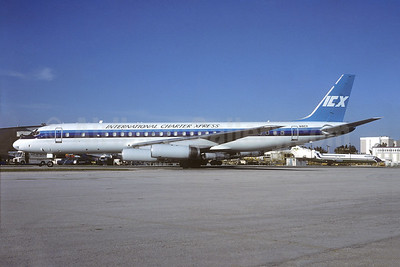 International Charter Xpress - ICX McDonnell Douglas DC-8-62CF N41CX (msn 46129) MIA (Bruce Drum). Image: 104881.