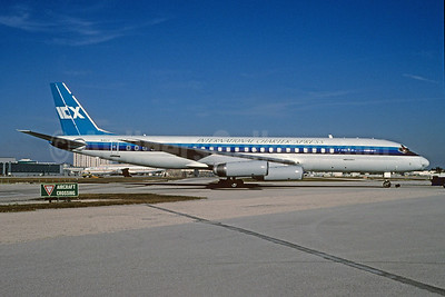 International Charter Xpress - ICX McDonnell Douglas DC-8-62CF N41CX (msn 46129) MIA (Bruce Drum). Image: 103722.