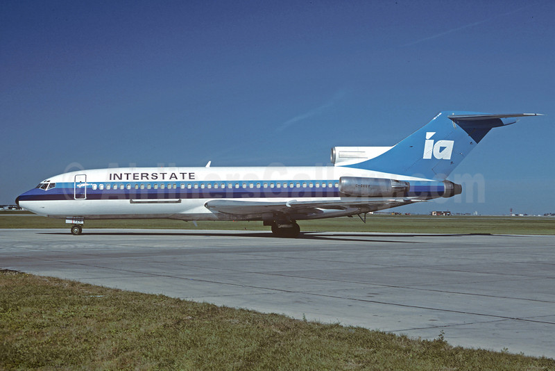 Interstate Airlines-IA (3rd) Boeing 727-22C C-GAGY (N726PL) (msn 19192) YWG (Christian Volpati Collection). Image: 920884.