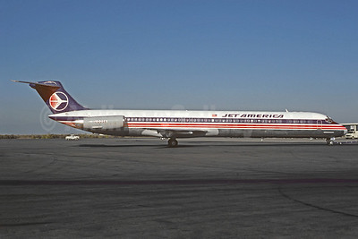 Jet America Airlines McDonnell Douglas DC-9-82 (MD-82) N1005A (N782JA) (msn 49103) LGB (Christian Volpati Collection). Image: 921727.