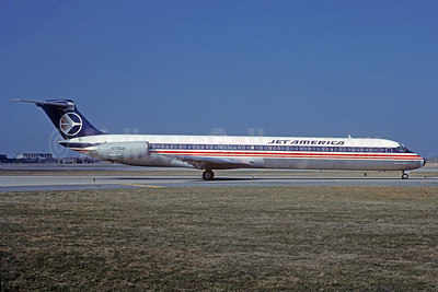 Jet America Airlines McDonnell Douglas DC-9-82 (MD-82) N779JA (msn 48079) LGB (Christian Volpati Collection). Image: 921728.