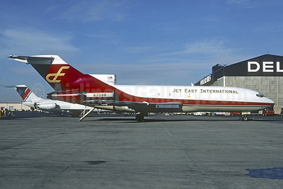 Jet East International Airlines Boeing 727-29 N711GN (msn 19401) (Golden Nugget colors) ATL (Ron Kluk). Image: 937378.