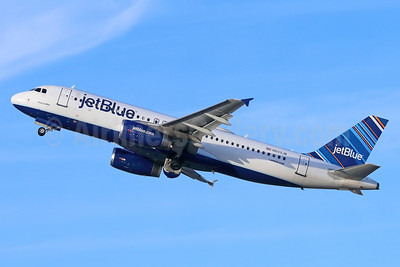 JetBlue Airways Airbus A320-232 N603JB (msn 2352) (Barcode) LGB (Michael B. Ing). Image: 938855.
