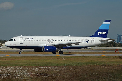 JetBlue Airways Airbus A320-232 N503JB (msn 1123) (Stripes) FLL (Bruce Drum). Image: 100102.