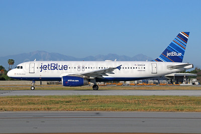 JetBlue Airways Airbus A320-232 N589JB (msn 2215) (Barcode) LGB (Michael B. Ing). Image: 941679.