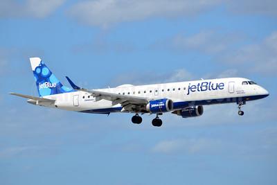 JetBlue Airways Embraer ERJ 190-100 IGW N179JB (msn 19000006) (Blueberries) FLL (Bruce Drum). Image: 104529.