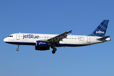 JetBlue Airways Airbus A320-232 N566JB (msn 2042) (Tartan) LGB (Michael B. Ing). Image: 948433.