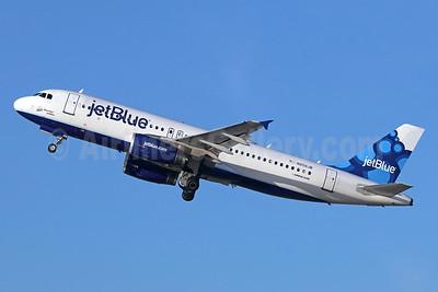 JetBlue Airways Airbus A320-232 N658JB (msn 3150) (Blueberries) LGB (Michael B. Ing). Image: 938856.