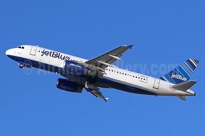 JetBlue Airways Airbus A320-232 N584JB (msn 2149) (Barcode) LGB (Michael B. Ing). Image: 938854.