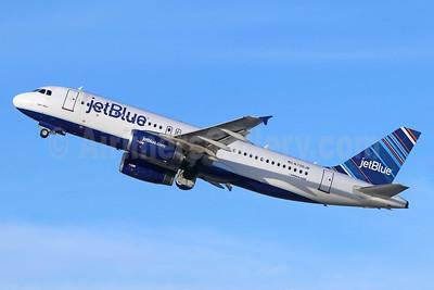 JetBlue Airways Airbus A320-232 N796JB (msn 5060) (Barcode) LGB (Michael B. Ing). Image: 938857.