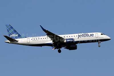 JetBlue Airways Embraer ERJ 190-100 IGW N236JB (msn 19000035) (Tartan) IAD (Brian McDonough). Image: 963372.