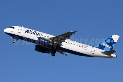 JetBlue Airways Airbus A320-232 N656JB (msn 3091) (Blueberries) LGB (Michael B. Ing). Image: 948438.