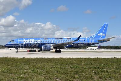 """JetBlue's 2017 """"Blueprint"""" special livery"""