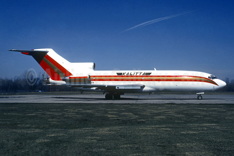 Kalitta (Connie Kalitta Services) (1st) Boeing 727-35 (F) N150FN (msn 19166) ORD (Christian Volpati Collection). Image: 933574.