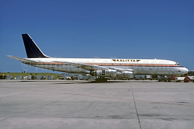 Kalitta (Connie Kalitta Services) (1st) McDonnell Douglas DC-8F-55 Jet Trader N807CK (msn 45767) (Volcanair colors) SYD (Christian Volpati Collection). Image: 933575.