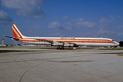 Kalitta (Connie Kalitta Services) (1st) McDonnell Douglas DC-8-61 (F) N813CK (msn 45893) MIA (Bruce Drum). Image: 103728.