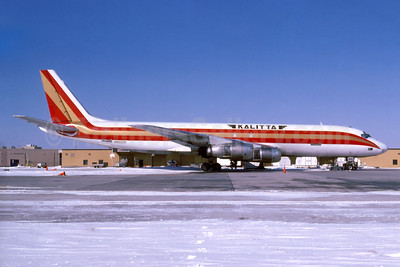 Kalitta (Connie Kalitta Services) (1st) McDonnell Douglas DC-8F-54 Jet Trader N802CK (msn 45679) YIP (Fernandez Imaging Collection). Image: 920492.