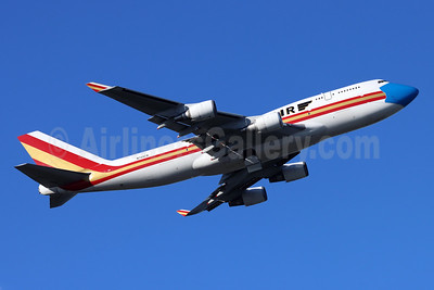 Kalitta Air (2nd) Boeing 747-446 (F) N744CK (msn 26353) (mask) ANC (Michael B. Ing). Image: 955412.