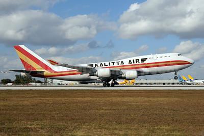 Kalitta Air (2nd) Boeing 747-4H6 (BCF) N741CK (msn 24315) MIA (Bruce Drum). Image: 104508.