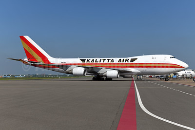 Kalitta Air (2nd) Boeing 747-4KZF N403KZ (msn 34018) AMS (Ton Jochems). Image: 950082.